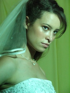 Rebecca Herod as the beautiful bride in Hellbride