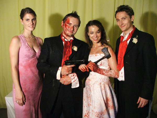 The cast of Hellbride - Horror Comedy